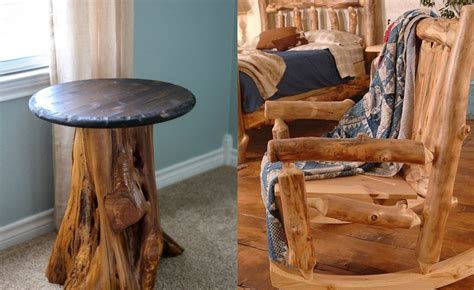 Making Rustic Wooden Furniture