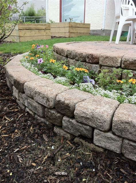 Making Stone Flower Bed