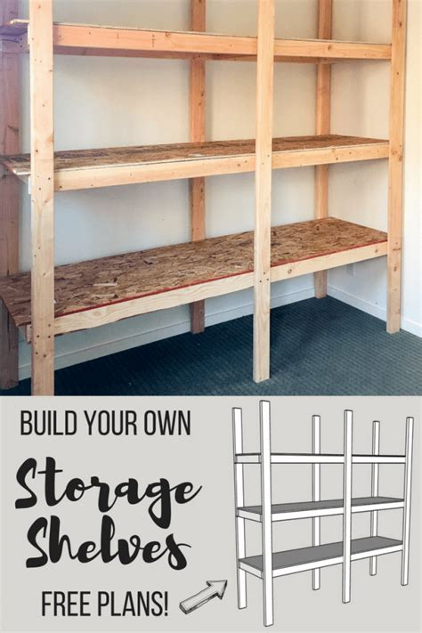Making Your Own Storage Shelves