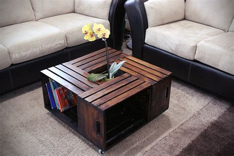 Making a coffee table from crates Image