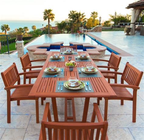 Malibu Outdoor Dining Table And Chairs Set