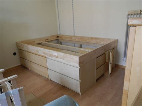 Malm Bed Into Wall Bed Diy