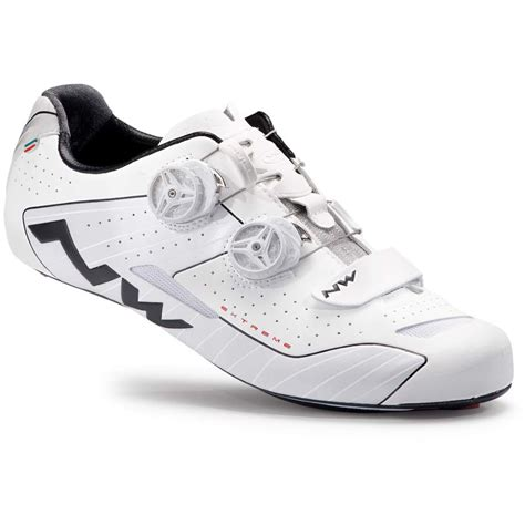 Man Road Cycling Shoes Extreme Wide White Reflective
