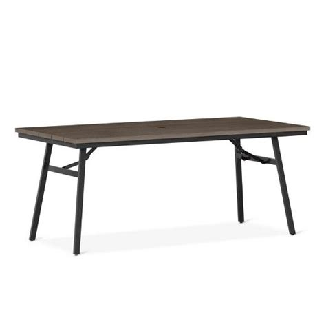 Mantega Faux Wood Folding Patio Table Plans