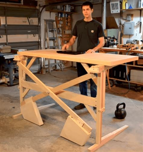 Manual Standing Desk Diy