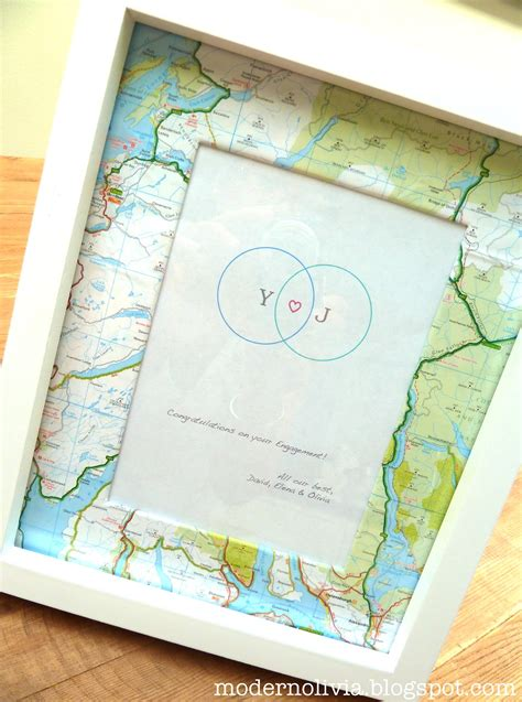 Map Picture Frame Diy