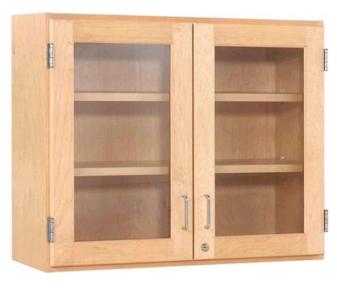 Maple Wall Cabinet With Glass