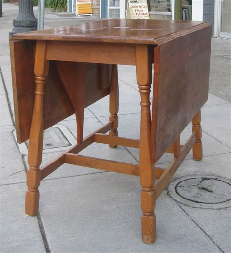 Maple Wood Drop Leaf Table