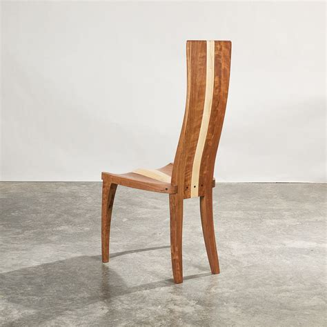 Maple Wood High Back Dining Chair