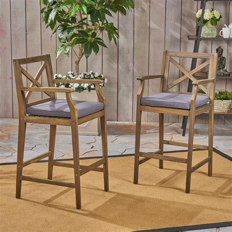 Maravilla Patio Bar Stool With Cushion