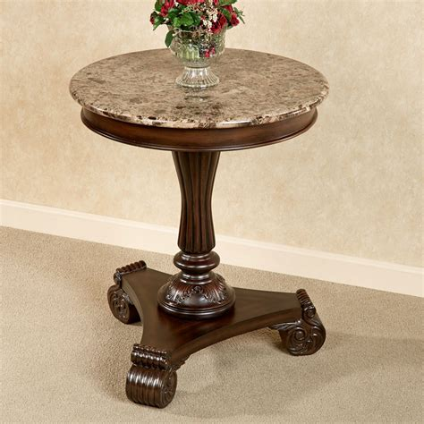Marble Top Accent Side Table