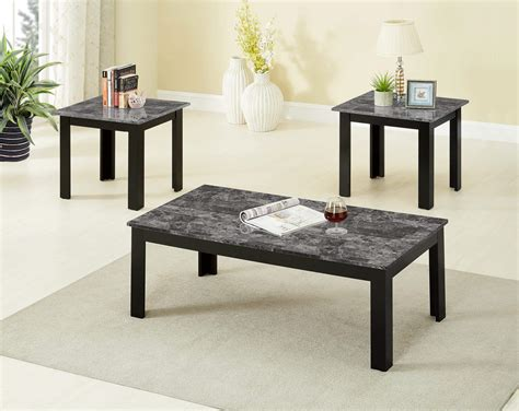 Marble coffee and end tables Image