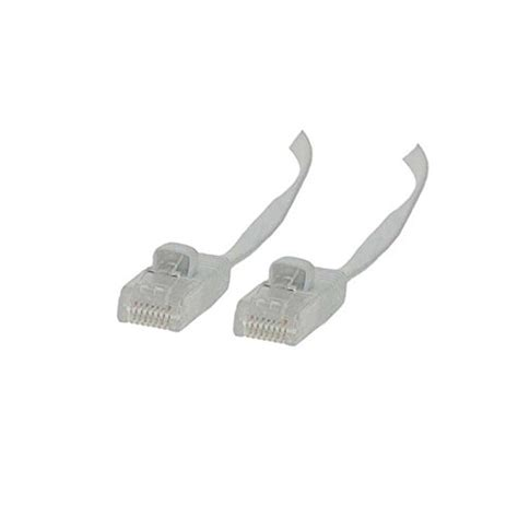 MarginMart 10 Feet, Ultra Premium CAT6 550 MHZ Flat Patch Cable, White 20 Pack, MM679556