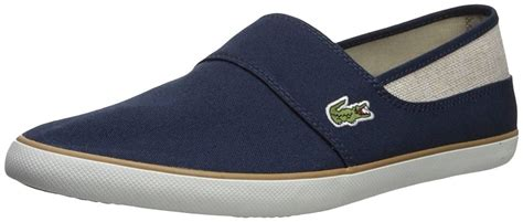 Marice 218 Navy Beige Canvas Mens Slip-ONS Shoes