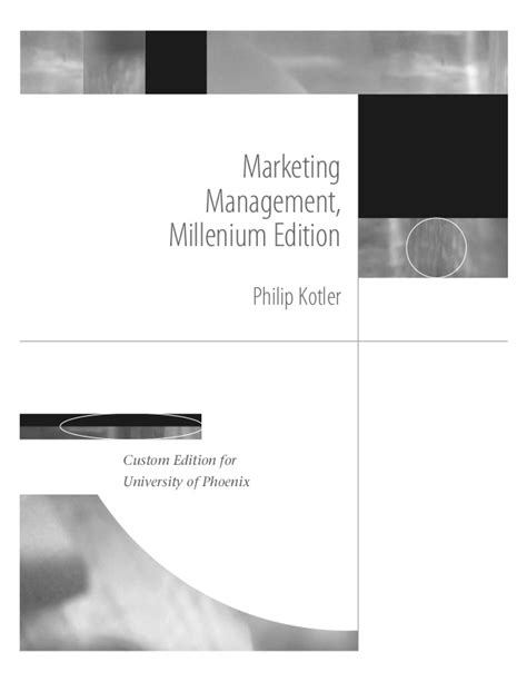 [pdf] Marketing Management Millenium Edition.