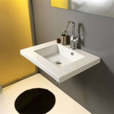 Mars Ceramic 28 Wall Mount Bathroom Sink With Overflow