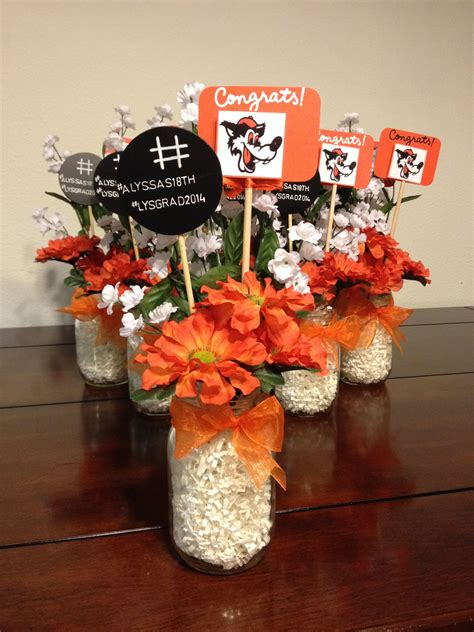 Mason Jar Diy Centerpieces For Graduation