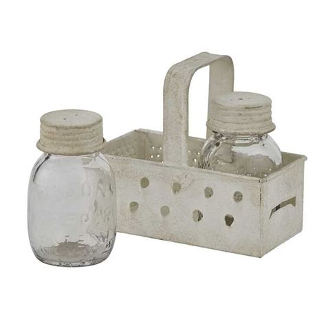 Mason Jar Salt And Pepper Shakers With Caddy
