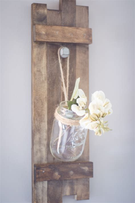 Mason Jar Wood Holder Diy Room