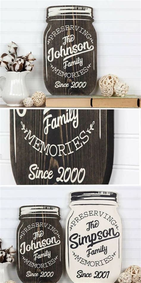 Mason Jar Wood Sign Diy Ideas