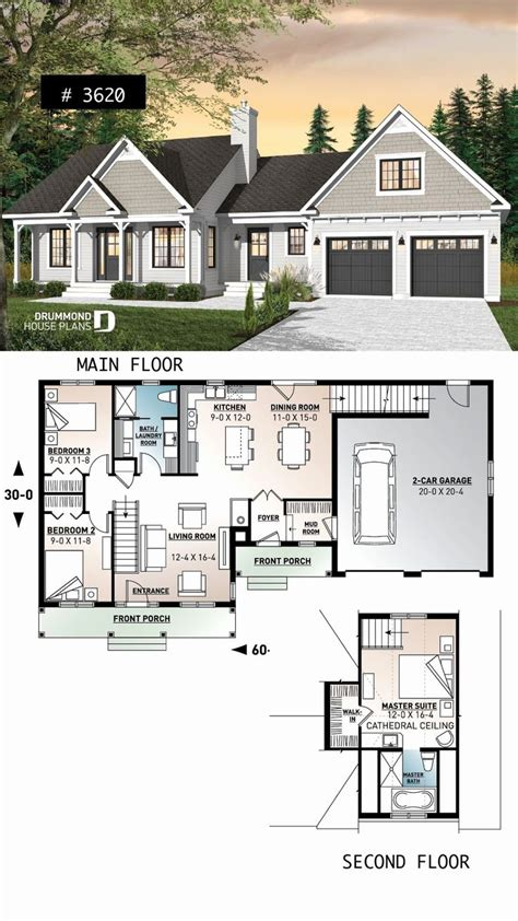 Master Suite Over 2 Car Garage Floor Plans