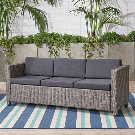 Mauzac Patio Sofa With Cushions