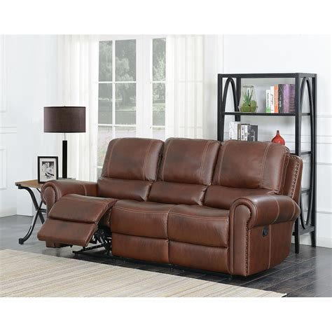 Maverick Leather Reversible Reclining Sectional