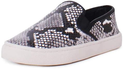 Max Leather Diamond Roccia Print Slip on Sneakers in Roccia