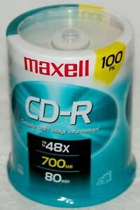 Maxell - CD-R Discs, 700MB/80min, 48x, Spindle, Silver, 100/Pack 648200 (DMi PK