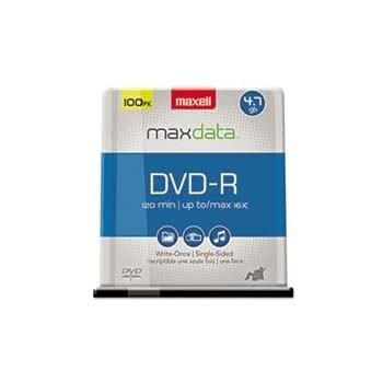 Maxell - DVD-R Discs, 4.7GB, 16x, Spindle, Gold, 100/Pack 638014 (DMi PK