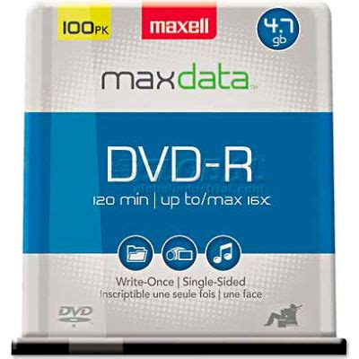 Maxell - Dvd-R Discs 4.7Gb 16X Spindle Gold 100/Pack 'Product Category: Storage Media/Dvds'