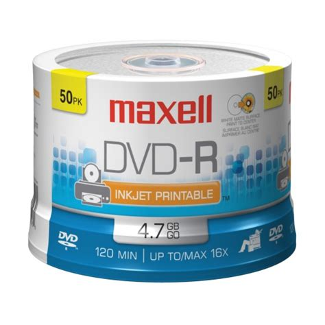 Maxell 16x DVD-R Media - 4.7GB - 50 Pack - 638022