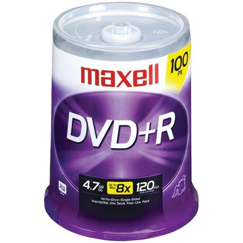 Maxell 4.7Gb Dvd-Rs (100-Ct) 'Product Type: Memory, Media & Accessories/Recordable Dvds'