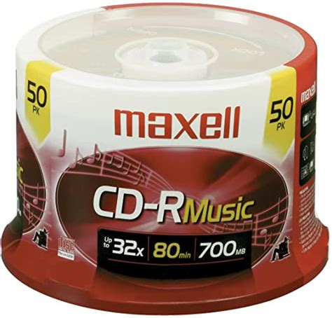 Maxell 625156 CD-R Media - 700MB - 50 Pack