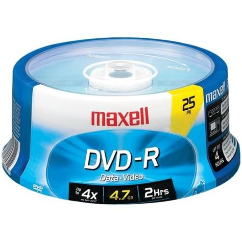 Maxell 635052/638010 4.7 Gb Dvd-Rs (25-Ct Spindle)