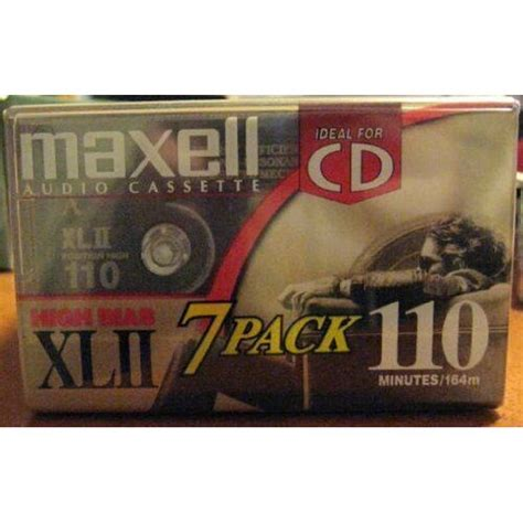 Maxell Audio Cassette High Bias XLII 110 Minutes 7 Pack