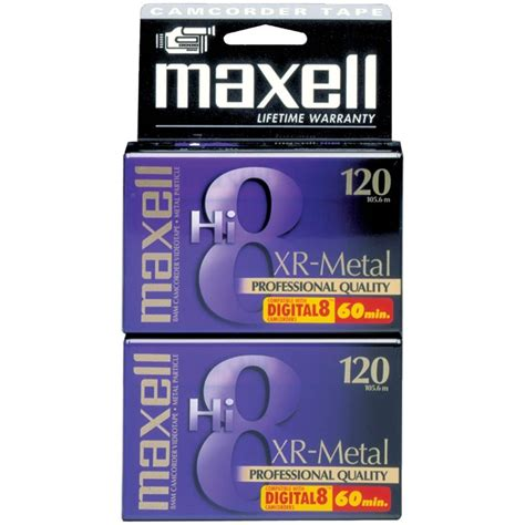 Maxell Hi-8 Tape XR Metal 120 min 8 mm (2-Pack)