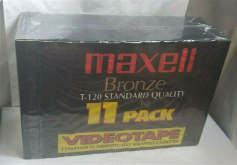 Maxell VHS Bronze T-120 Tapes - Box of 15.