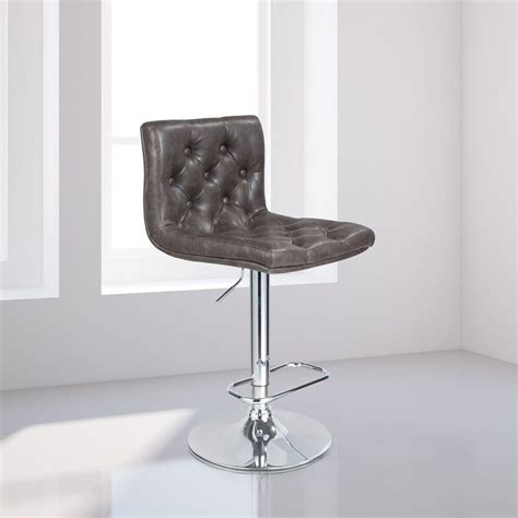 Mckayla Adjustable Height Swivel Bar Stool