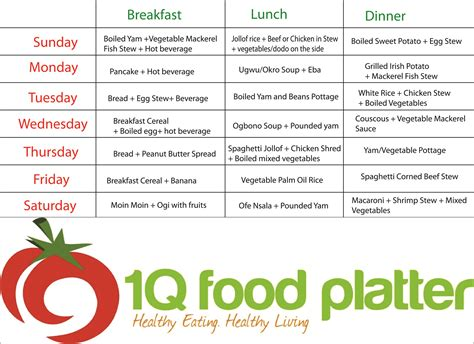 Meal-Plan-Time-Table