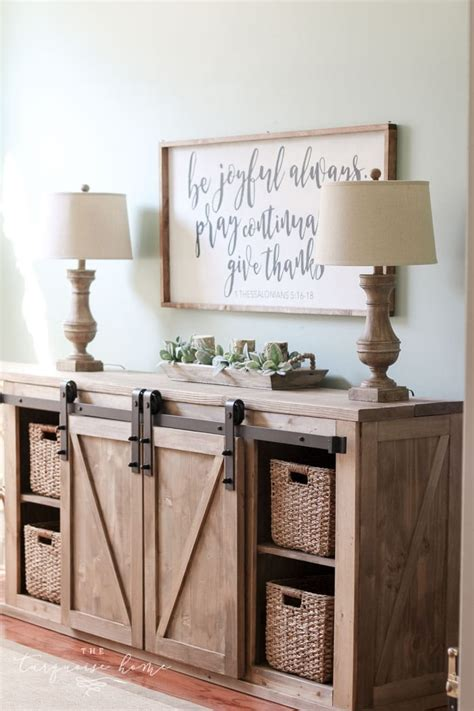 Media Console Table Diy Plans