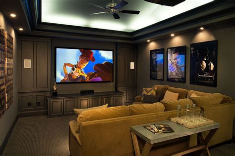 Media Room Furniture Plan