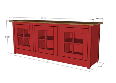 Media-Stand-Woodworking-Plans