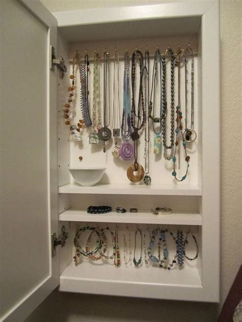 Medicine Cabinet Jewelry Holder Diy