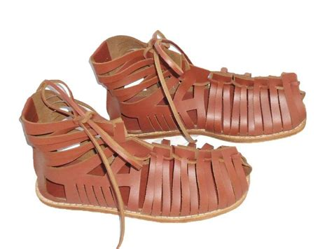 Medieval Roman Leather Caligae Viking Sandals with Super Quality