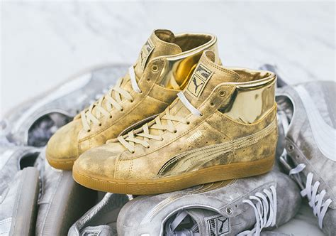 Meek Mill Gold Puma Sneakers