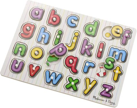 Melissa And Doug Number And Alphabet Wood Puzzles