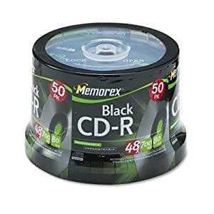 Memorex - Cd-R Discs 700Mb/80Min 48X Spindle Black 50/Pack 'Product Category: Storage Media/Cds'