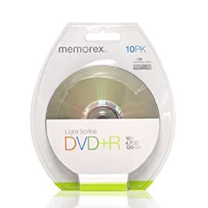Memorex 120 min. (sp)/4.7 GB DVD+R 16x Light Scribe (10-pack)