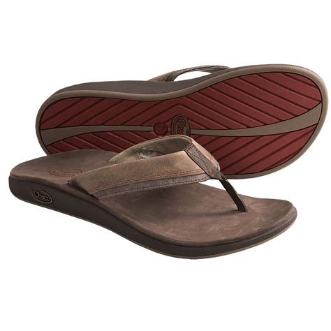 Men Casual Leather Flip-Flops Thongs Sandals